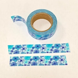 Flower Washi Tape - Blue