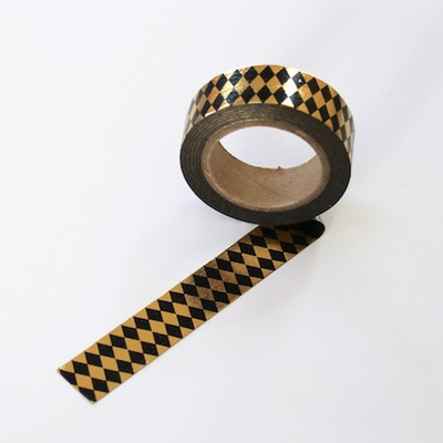 Foil Washi Tape - Diamonds