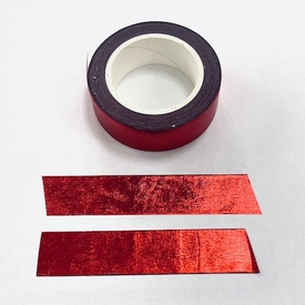 * Foil Washi Tape - Red