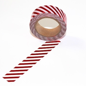 Foil Washi Tape - Red Stripe - out of stock
