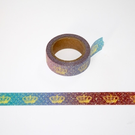 Glitter Crown Washi Tape