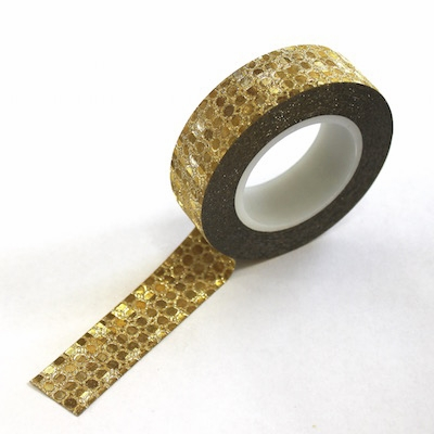 Glitter Gold Dots Washi Tape