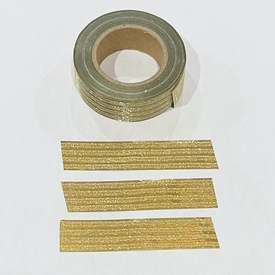 * Glitter Gold Stripe Washi Tape