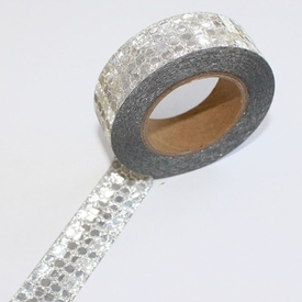 Glitter Silver Dot Washi Tape