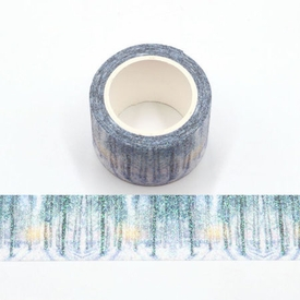 Glitter Tall Tree Washi Tape - Wide