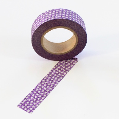 Glitter Tape - Purple Dots