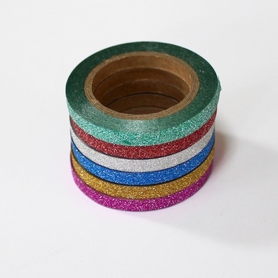 Glitter Thin Washi Tape - 5 Rolls