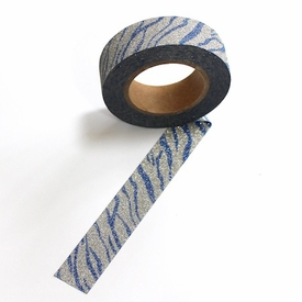Glitter Washi Tape - Blue/Silver
