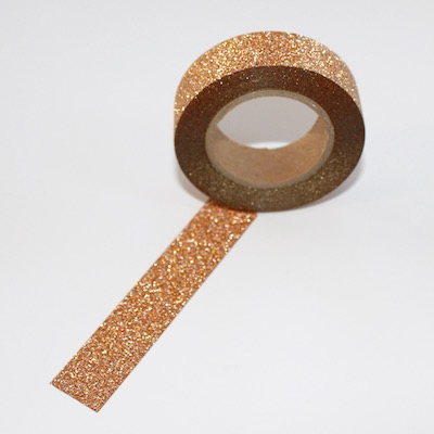 Glitter Washi Tape - Copper