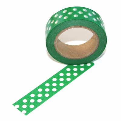 Green Dot Washi Tape