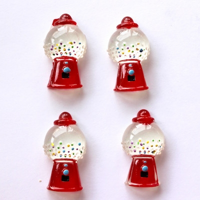 Gum Ball Machine Flatback Resin - out of stock