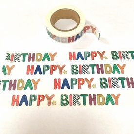 Happy Birthday Washi Tape