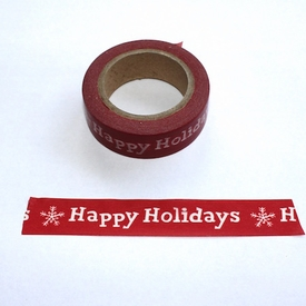 Happy Holidays Washi Tape - out of stock