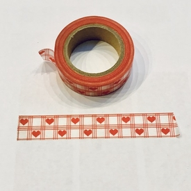 Heart Checked Washi Tape