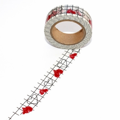 Heart Graph Washi Tape - out of stock