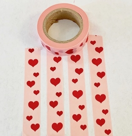 Heart Washi Tape - Vertical
