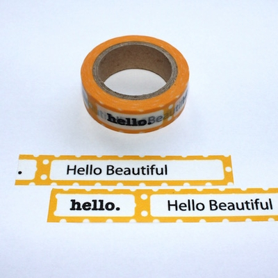 Hello Beautiful Washi Tape