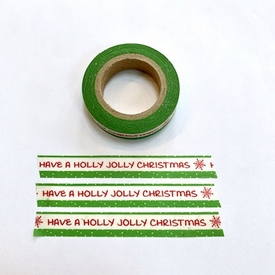 * Jolly Holly Christmas Washi Tape