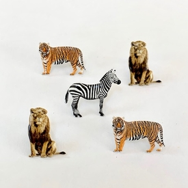 Lion Tiger Zebra Brads