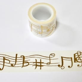 Music Washi Tape - Gold