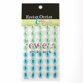 Oval Jewels - Blue/Green