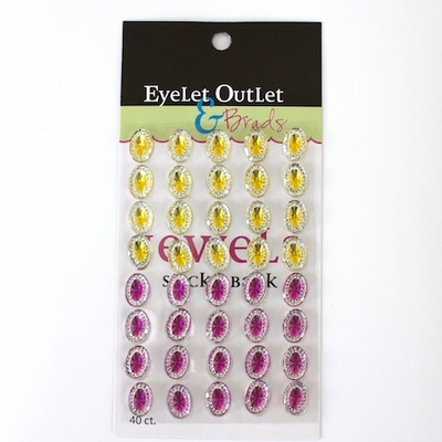 Oval Jewels - Yellow/Pink