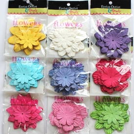 Paper Flowers- Solid Colors- 40/Pack