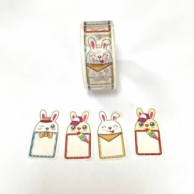 Rabbit Washi Tape Sticker Roll
