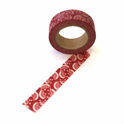 Red Fan Washi Tape