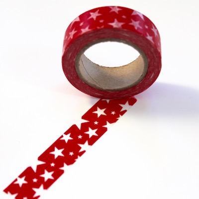Star Washi Tape - Red