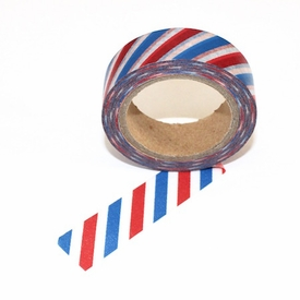 Red White Blue Stripe Washi Tape