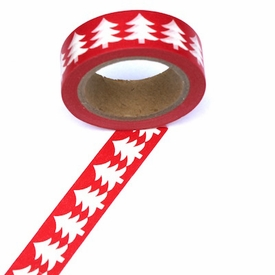 Red/White Tree Washi Tape