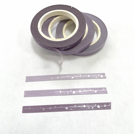 Skinny Purple Star Washi Tape