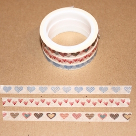 Skinny Washi Tape - Hearts