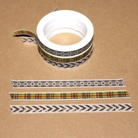 Skinny Washi Tape - Plaid
