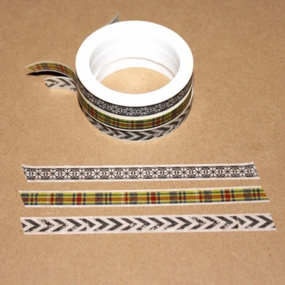 Skinny Washi Tape - Plaid - out of stock