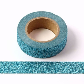 * Sparkle Blue Glitter Washi Tape