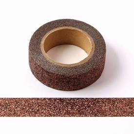 * Sparkle Brown Glitter Washi Tape