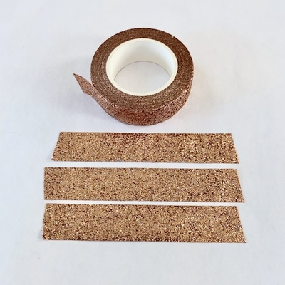 Sparkle Copper Glitter Washi Tape