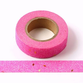 * Sparkle Hot Pink Glitter Washi Tape