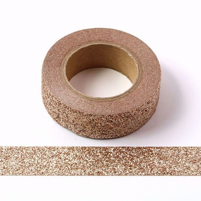 Sparkle Light Brown Glitter Washi Tape