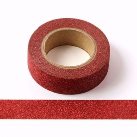 Sparkle Red Glitter Washi Tape