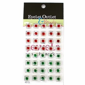 Square Jewels - Red/Green