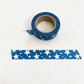 Star Washi Tape - Blue / White