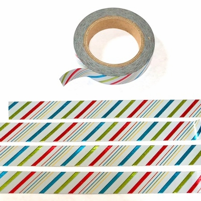 Stripe Foil Washi Tape