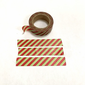 Stripe Washi Tape - Red/Green