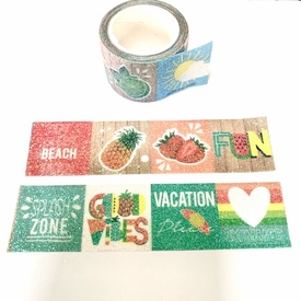Summer Glitter Washi Tape - Wide