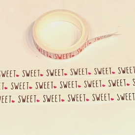 Sweet Washi Tape - Pink Foil