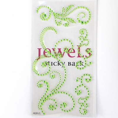 Swirl Bling - Jewel Green