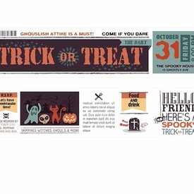 Trick Or Treat Washi Tape - Wide